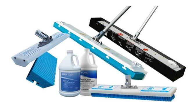 Productos para limpieza de escaleras eléctricas.