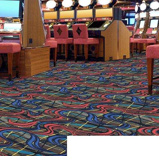Alfombra en un casino.
